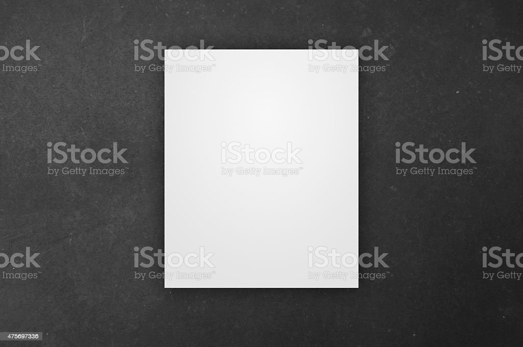White Canvas over the Chalkboard stock photo