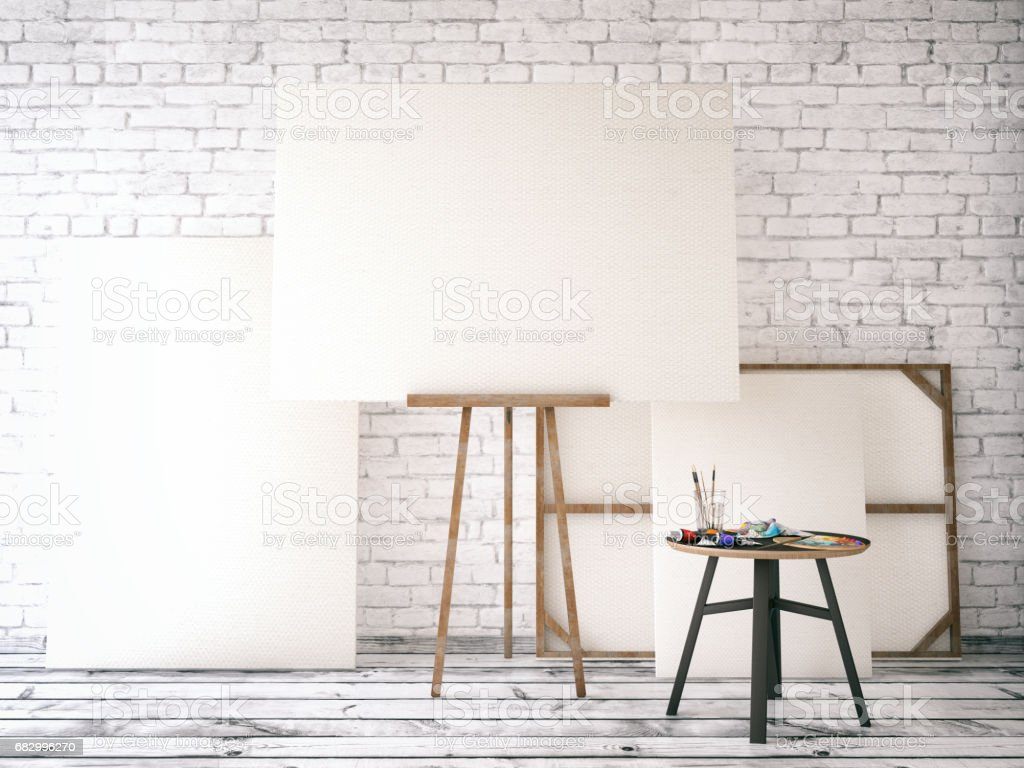White Canvas stock photo