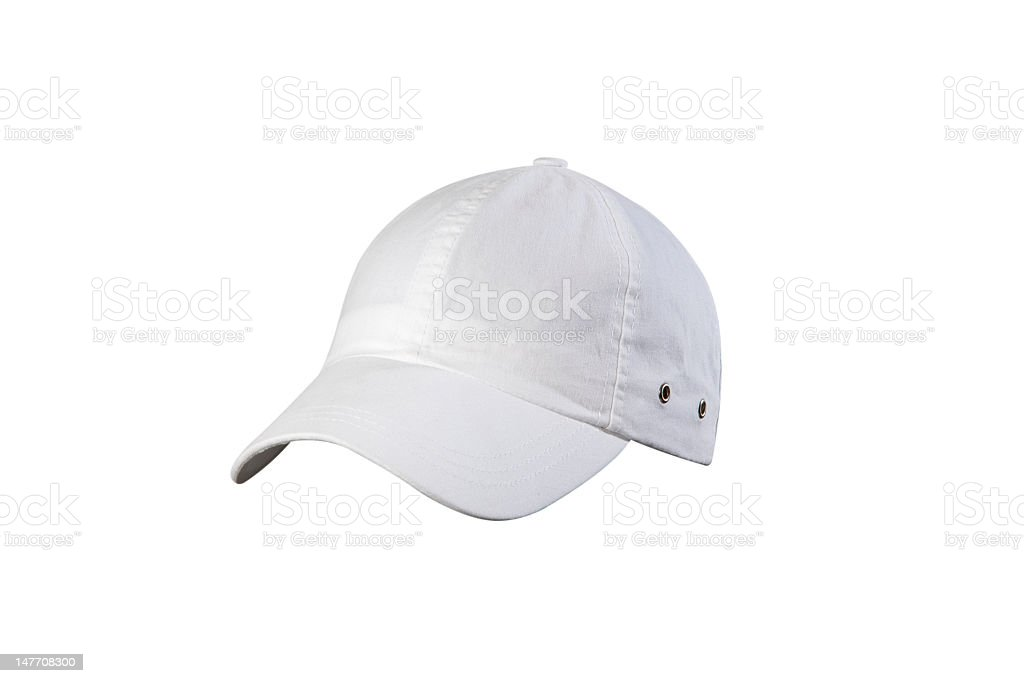 White cap isolated on white background royalty-free stock photo