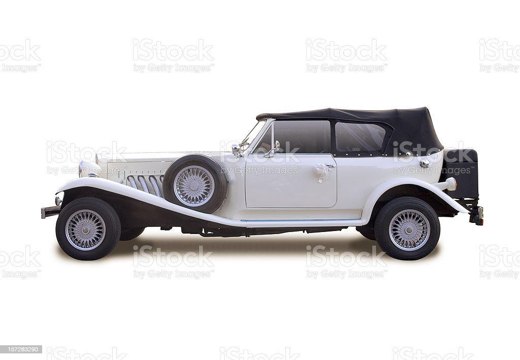 White car with clipping paths royalty-free stock photo