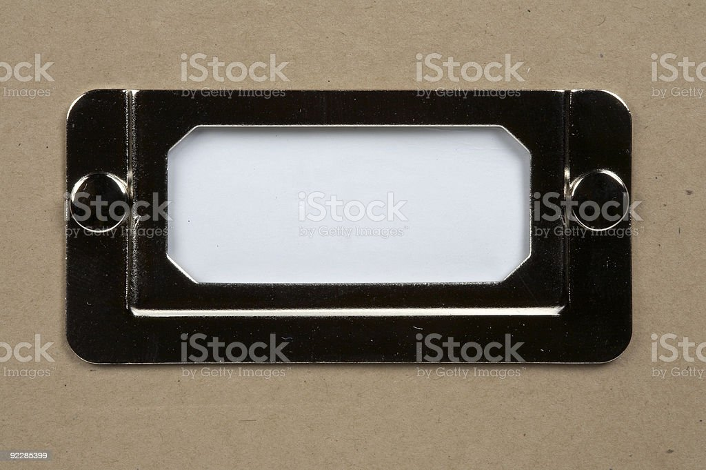 White card label stock photo