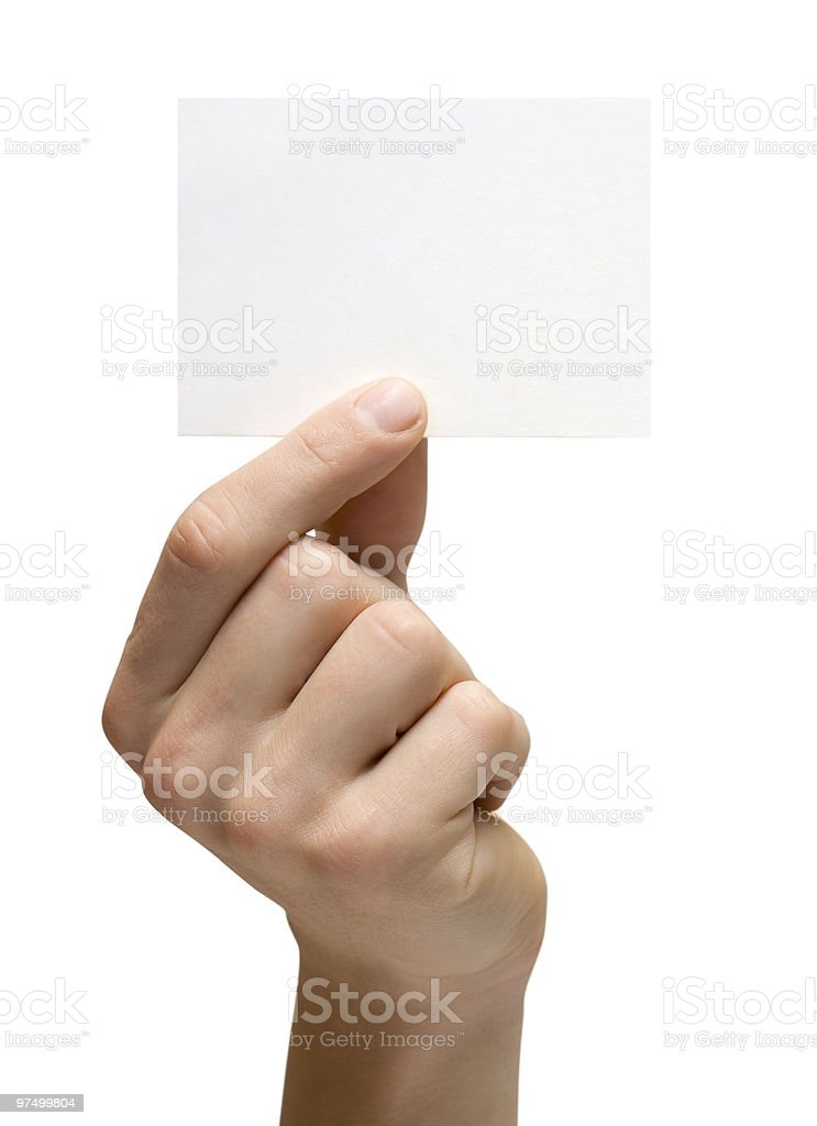 White card royalty-free stock photo