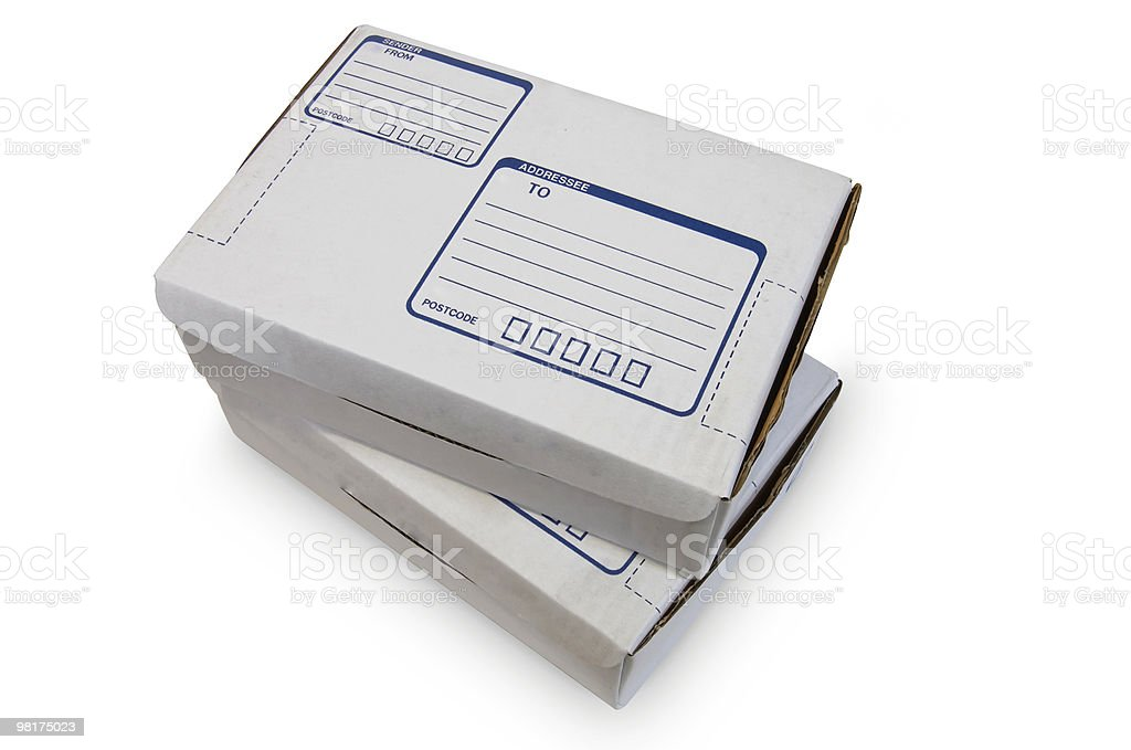 White Cardboard Boxes - #3 royalty-free stock photo