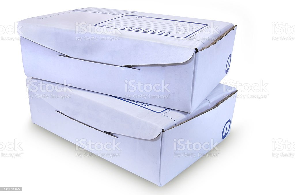 White Cardboard Boxes - #4 royalty-free stock photo