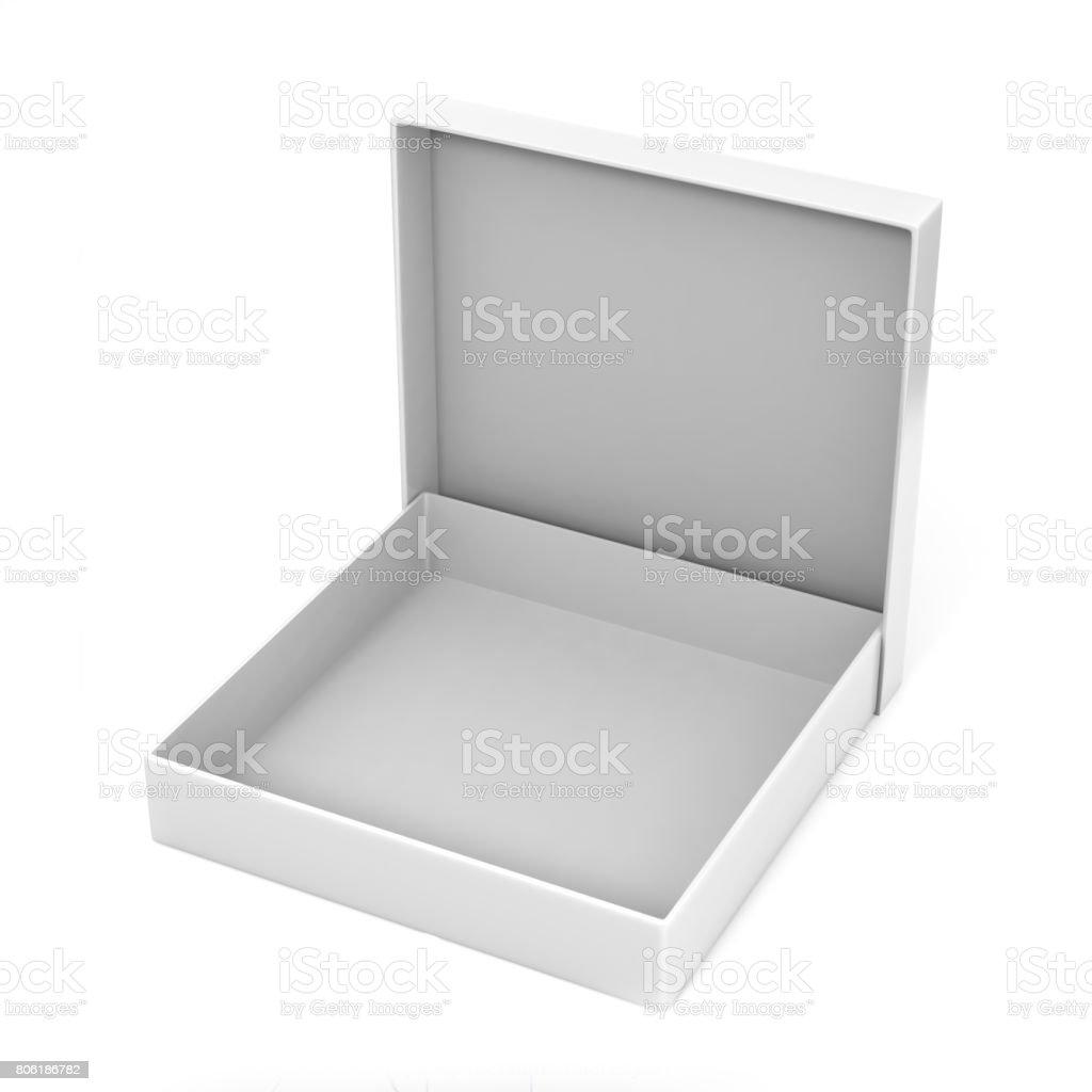 Blanco Paquete En Blanco Delgada Embalaje Caja De Cartón Para Mock ...