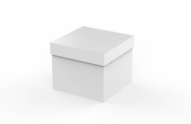 white cardboard packaging box mock up - puste pudełko zdjęcia i obrazy z banku zdjęć