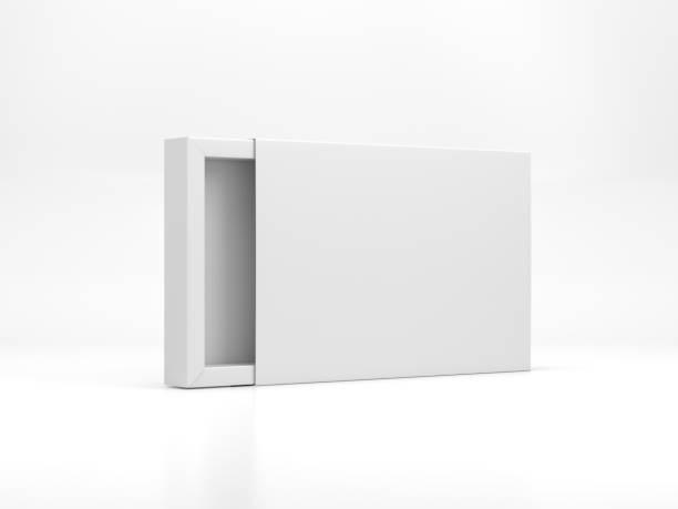 vit kartong skjutbara presentbox mockup - remmar godis bildbanksfoton och bilder