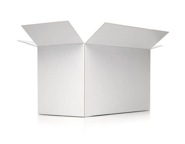 White cardbox stock photo