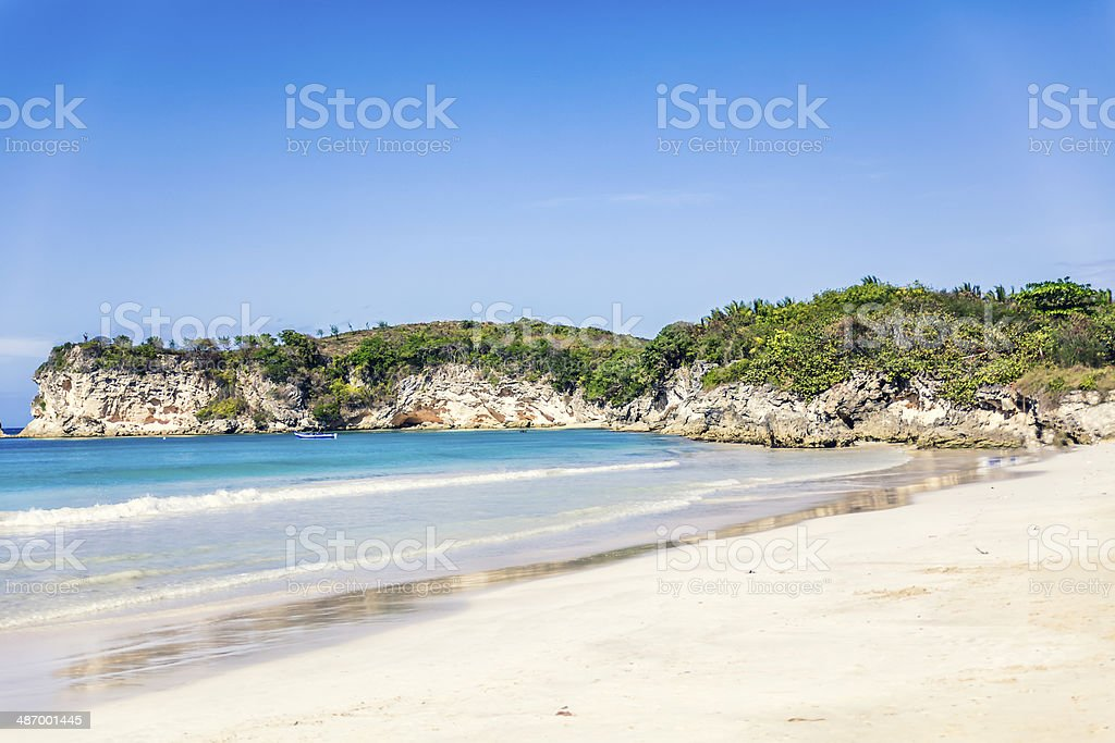White Caribbean Beach With Turquoise Water royalty-free stock photo