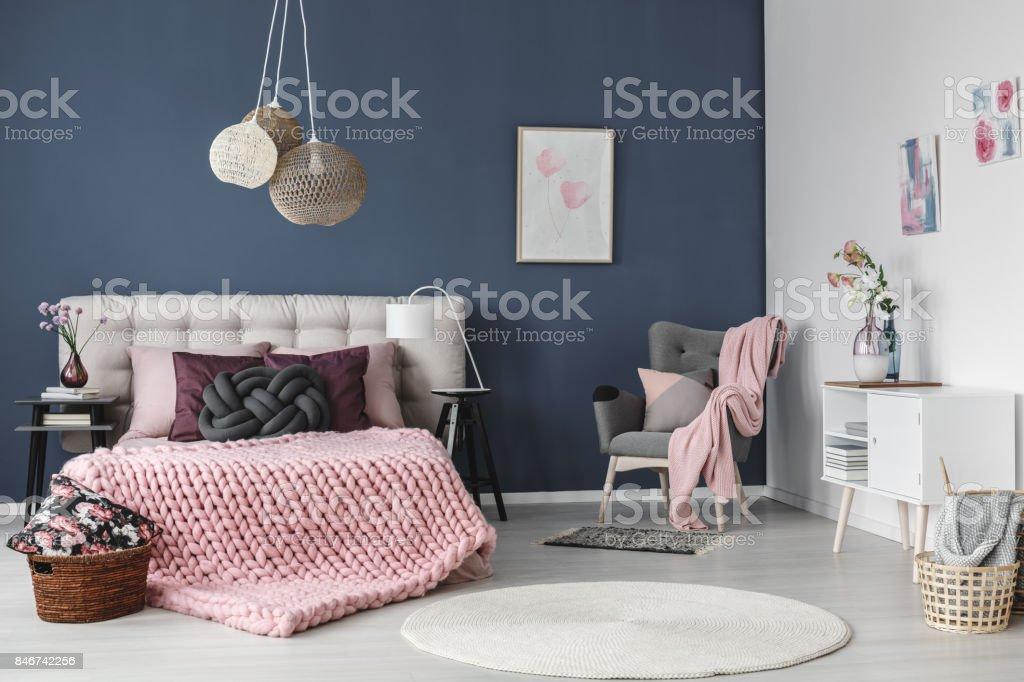White carpet on floor stock photo