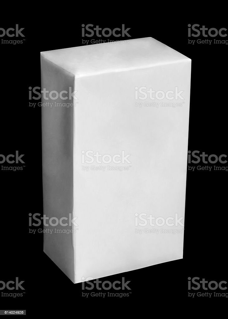 White carton package of milk or juice stock photo
