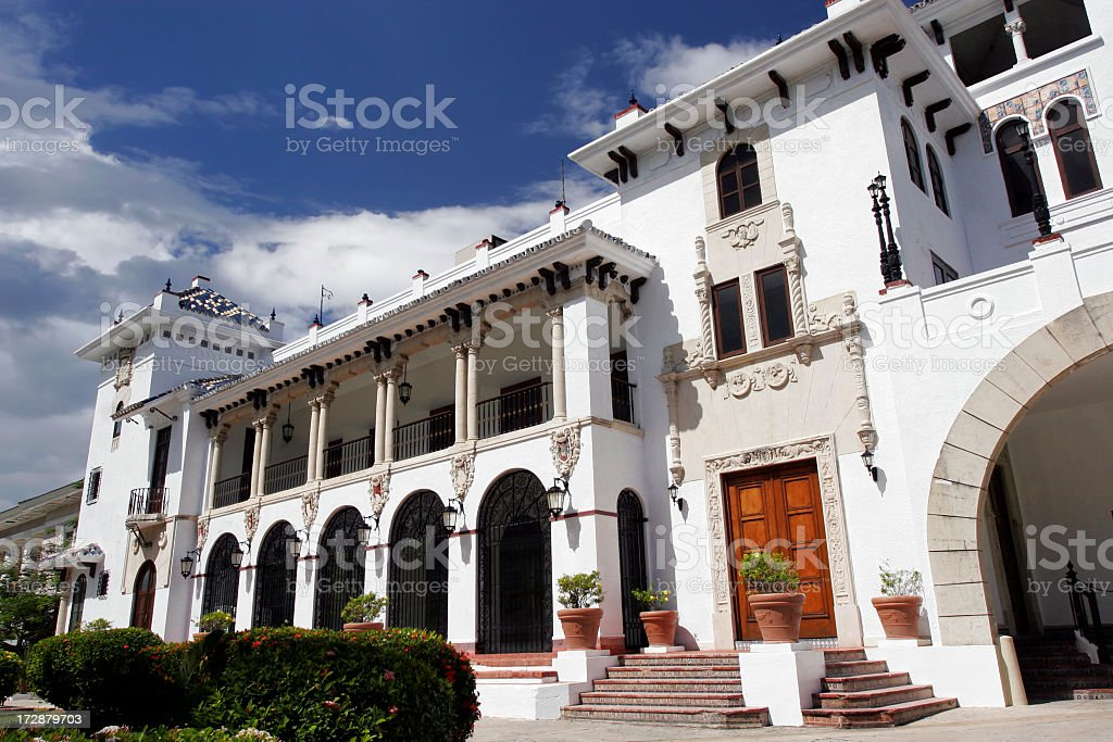 A White Castle building in Spain royalty-free stock photo