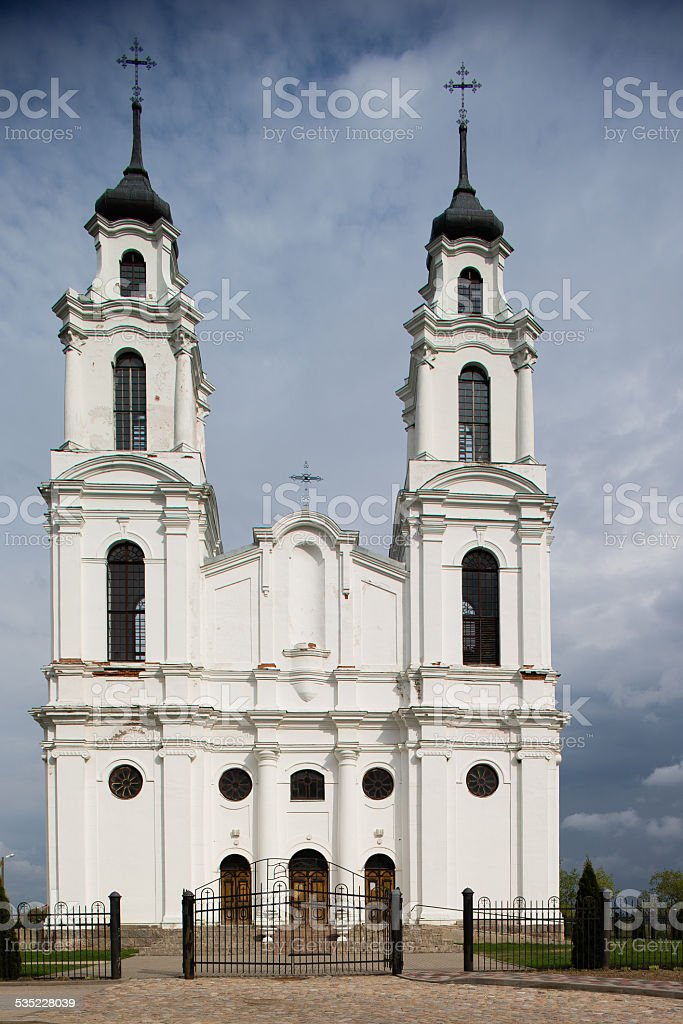 White catholic church stock photo