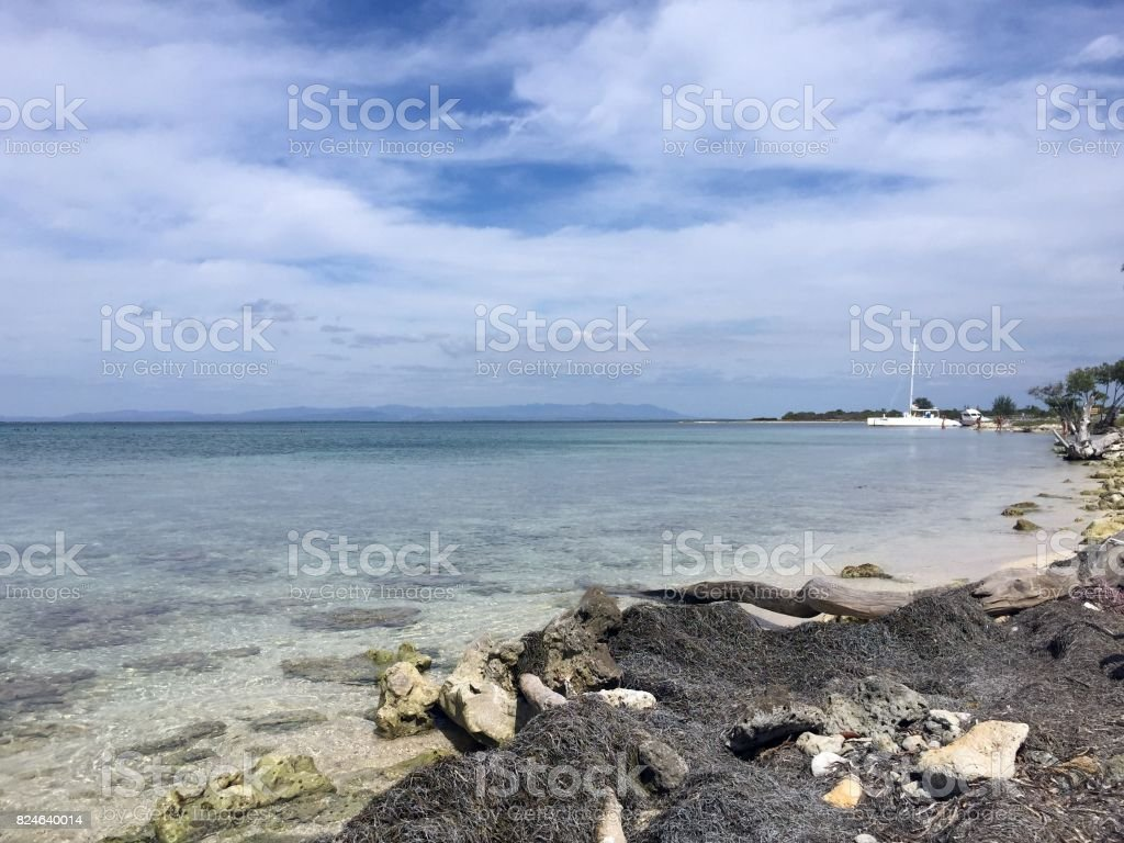 Cayo Blanco view stock photo