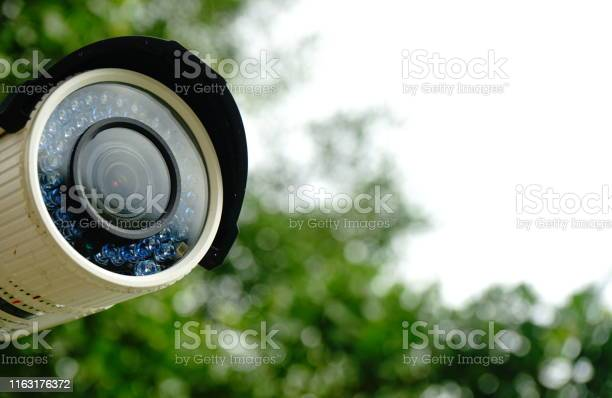 Photo of White cctv outside the building
