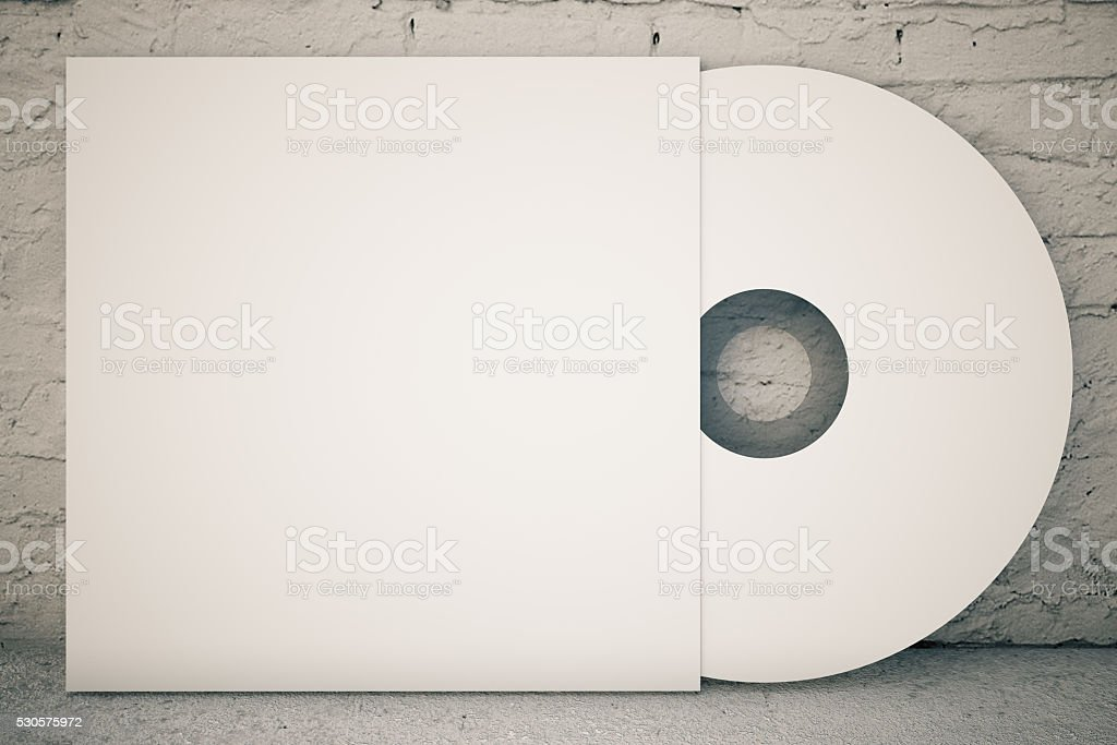 White CD disk stock photo