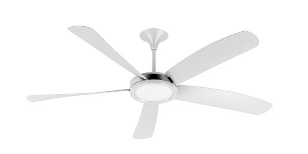 White ceiling fan Ceiling fan isolated on white background ceiling fan stock pictures, royalty-free photos & images