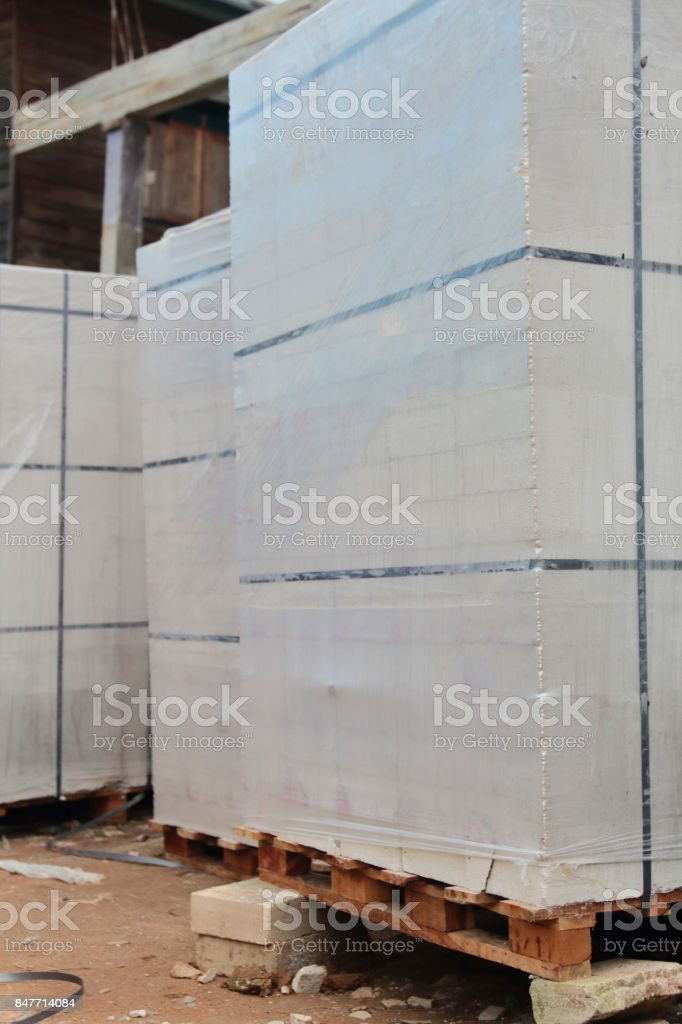 White cement block. stock photo