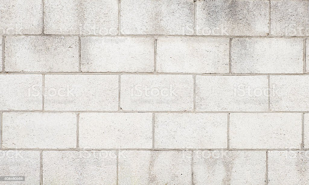 White cement block wall texture and background stock photo