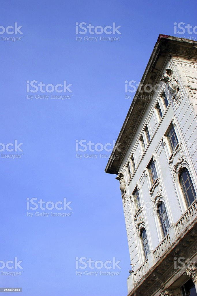 White centenary building royalty-free stock photo