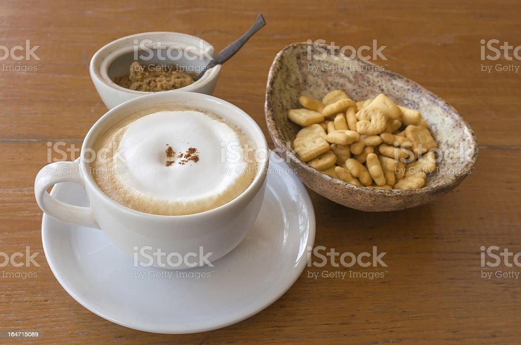 White ceramic cup of coffee royalty-free stock photo