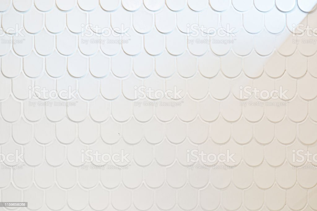 White Ceramic Fish Scale Texture Design Wall Tile For Bathroom Stock Photo Download Image Now Istock