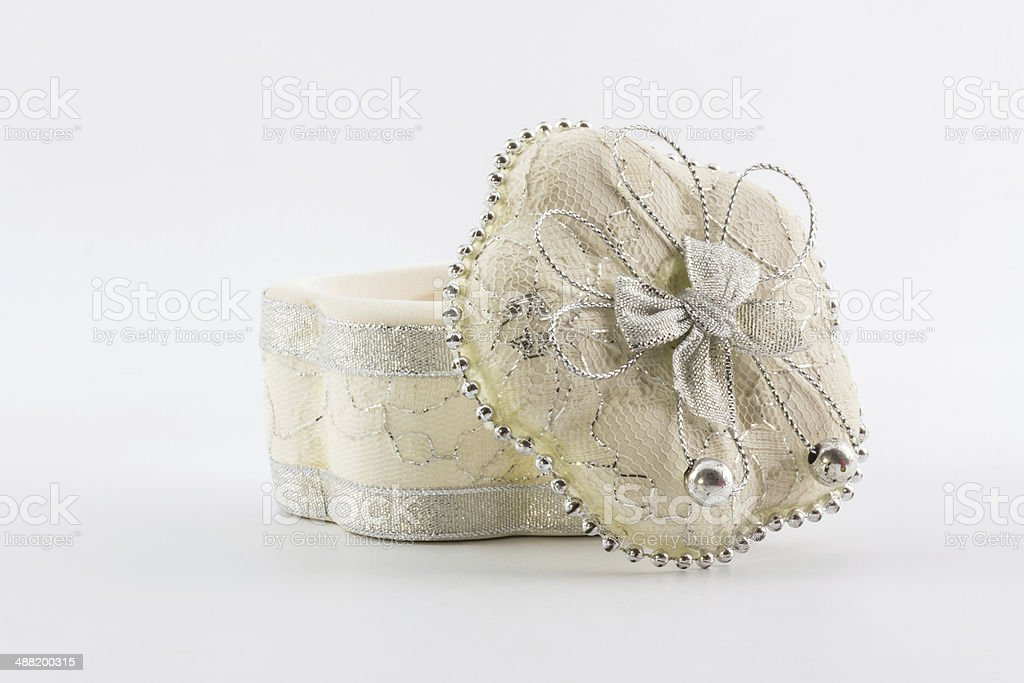 White ceramic gift. stock photo
