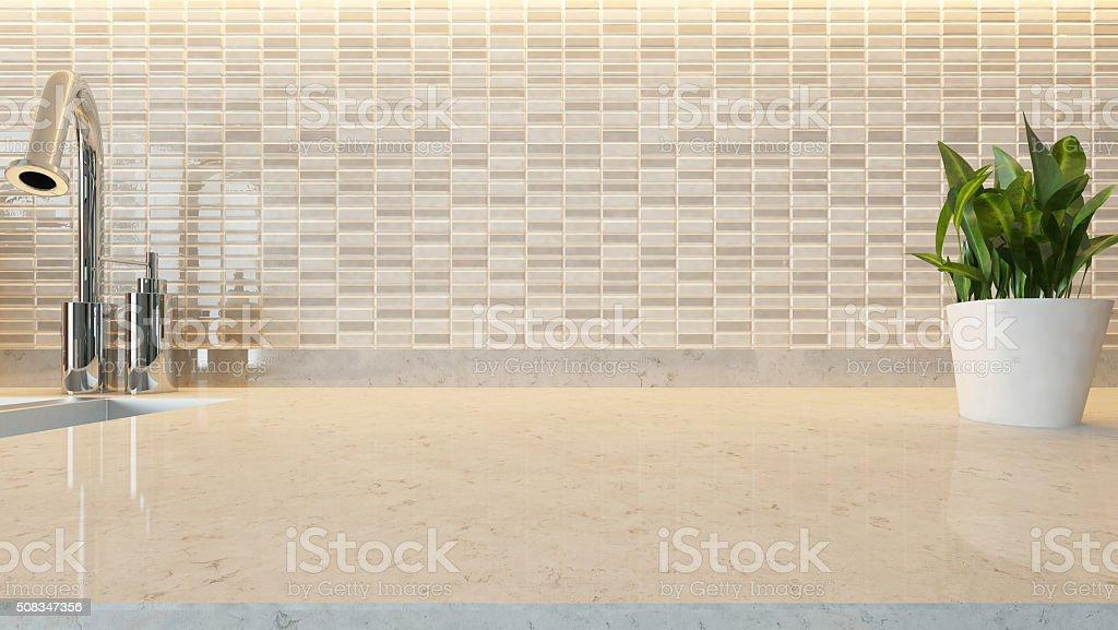 white ceramic modern kitchen design background stock photo