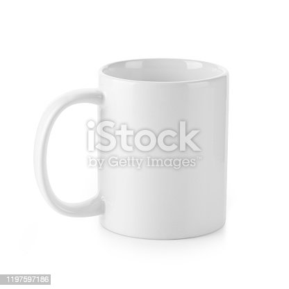 Used for Hot and Cold Beverage. Design Template for Mock-up. Studio Shoot. Front View