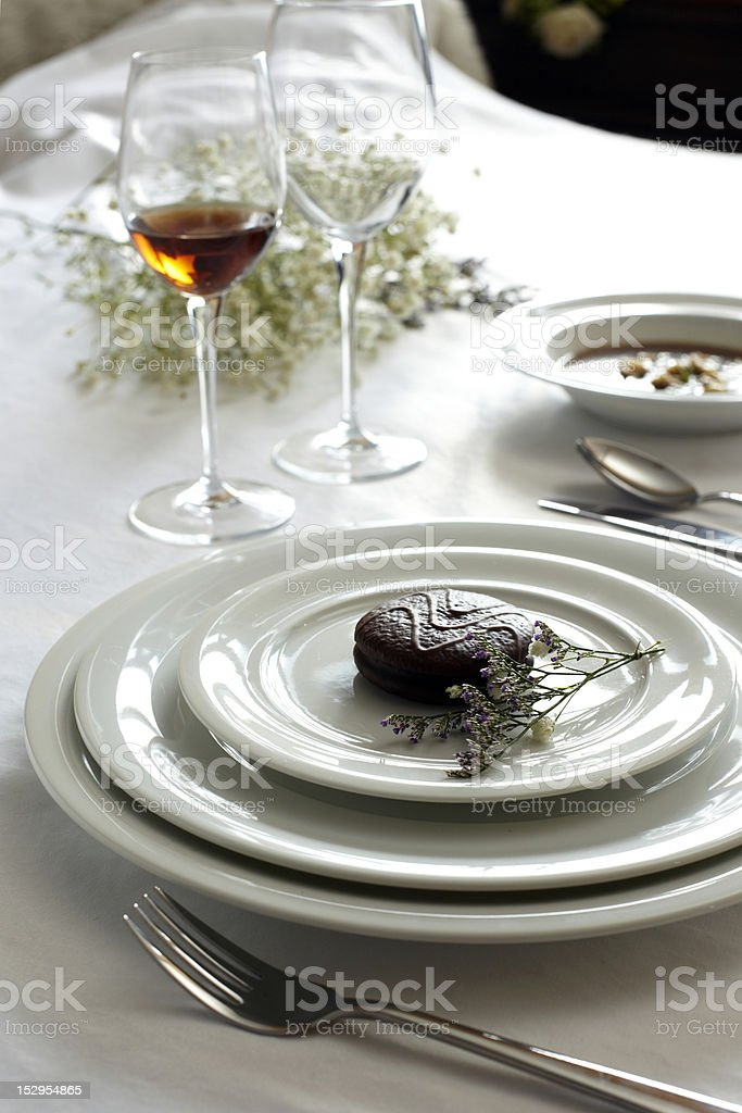 White ceramic tableware royalty-free stock photo