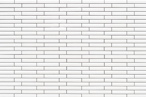 Witte Keramische Tegel Bakstenen Muur Textuur En Achtergrond Stockfoto en meer beelden van Architectuur