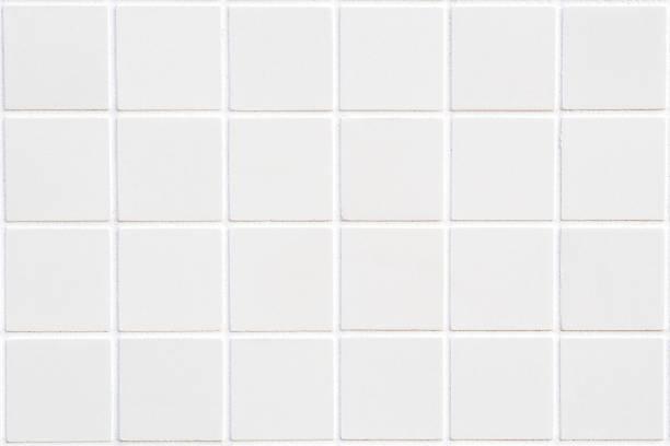 白いセラミックタイル、24 広場に長方形フォーム - タイル ストックフォトと画像