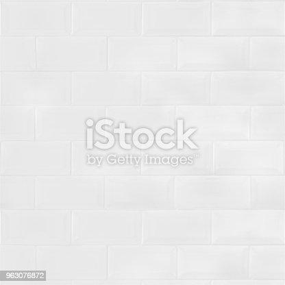 White ceramic tiles brick wall