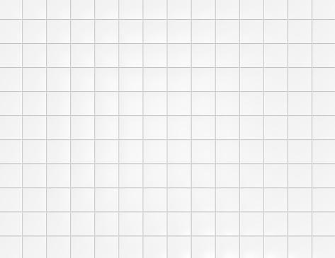 White ceramic tiles on wall background