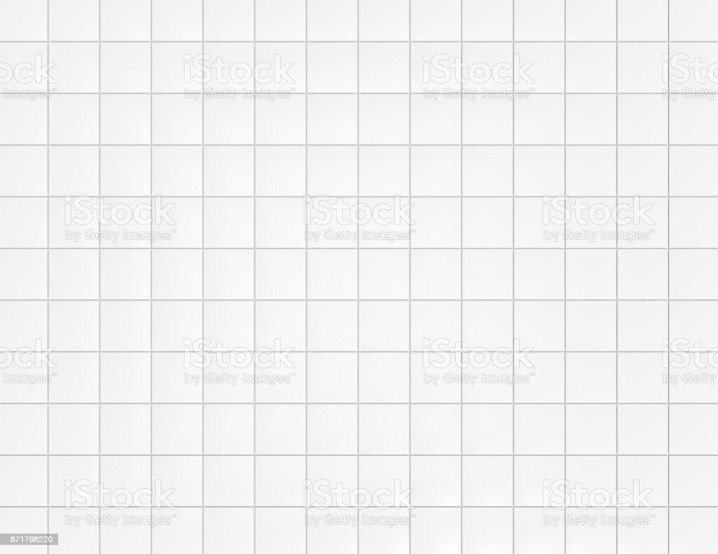 White ceramic tiles on wall background stock photo