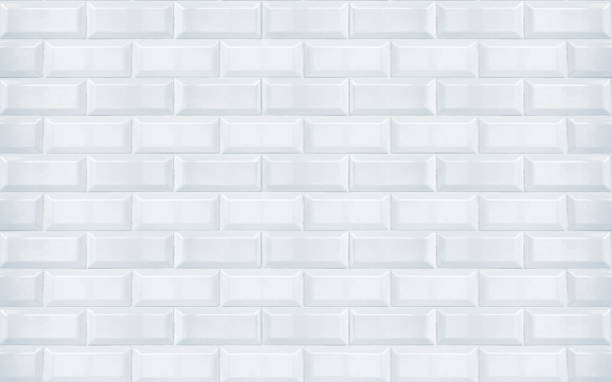 white ceramic tiles texture closeup - tile stock photos and pictures