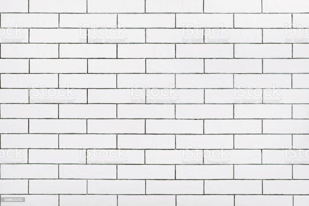 Parede de ladrilhos de cerâmica branca - foto de acervo