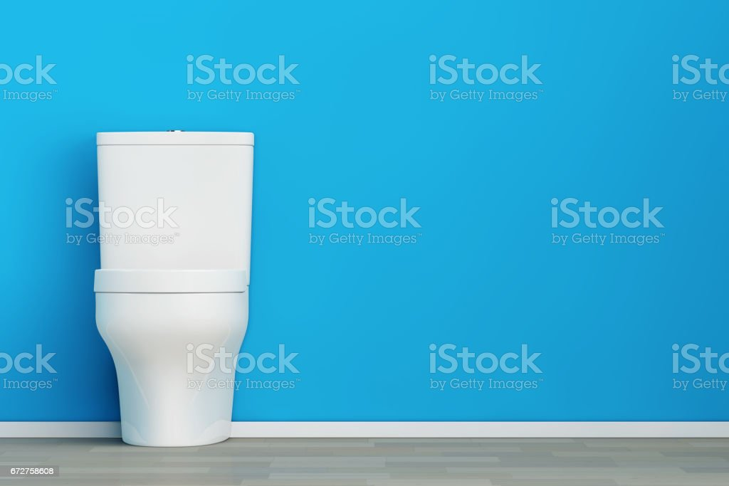 White Ceramic Toilet Bowl. 3d Rendering stock photo