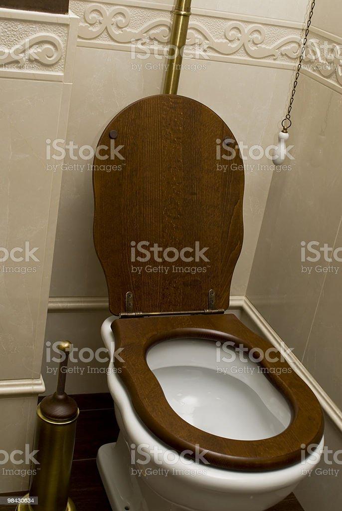 White ceramic toilet royalty-free stock photo