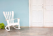 White chair on veranda