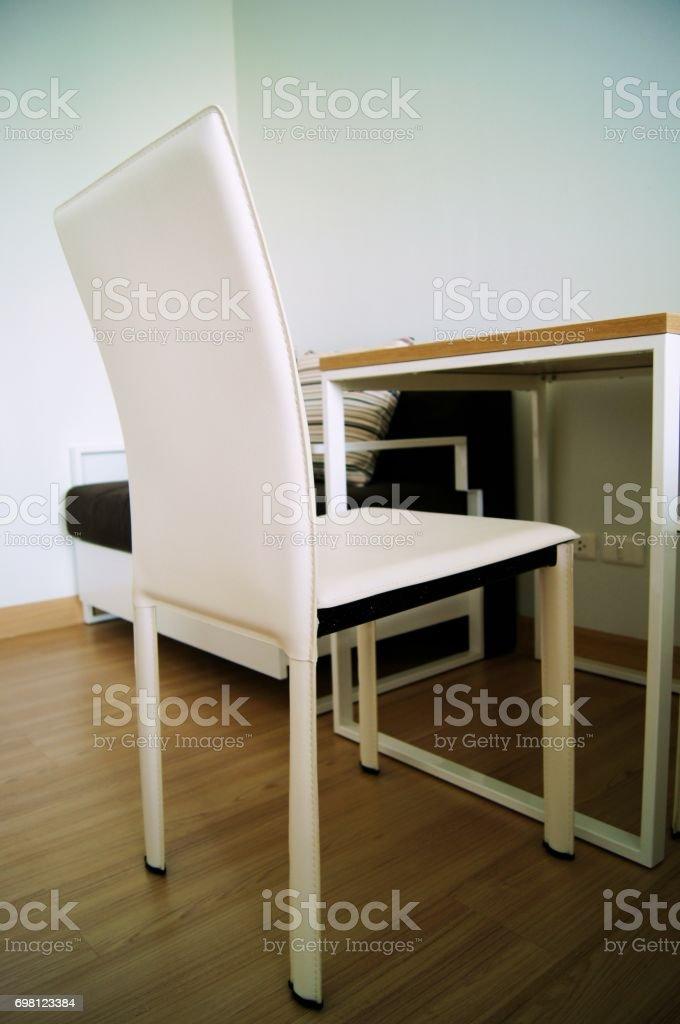 white chair stock photo