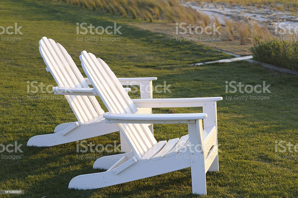 White Chairs royalty-free stock photo