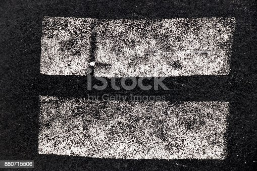 istock White chalk paint texture on black board background for decoration or grunge layer 880715506