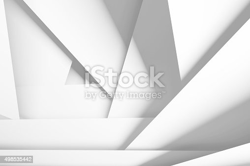 istock White chaotic multi layered planes, 3d illustration 498535442