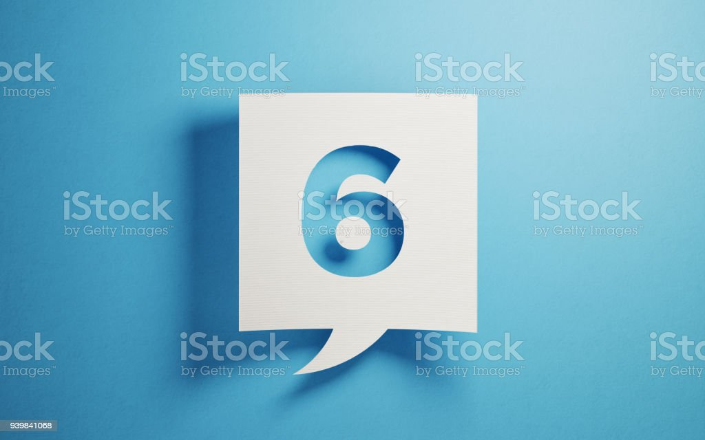 White Chat Bubble On Blue Background royalty-free stock photo