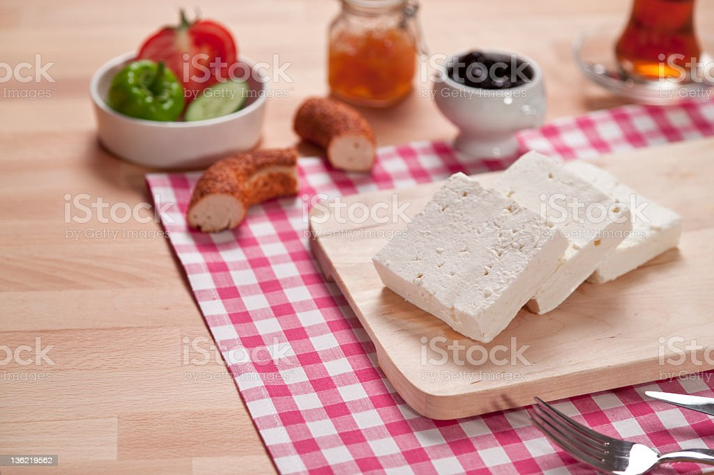 white cheese at breakfast royalty-free stock photo