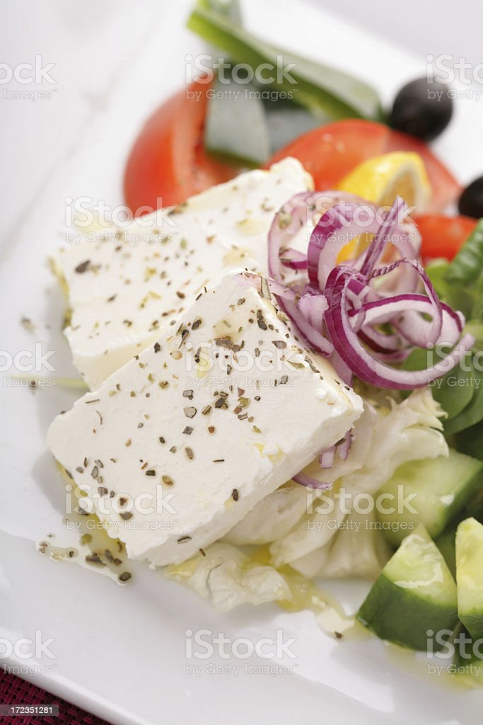white cheese salad royalty-free stock photo