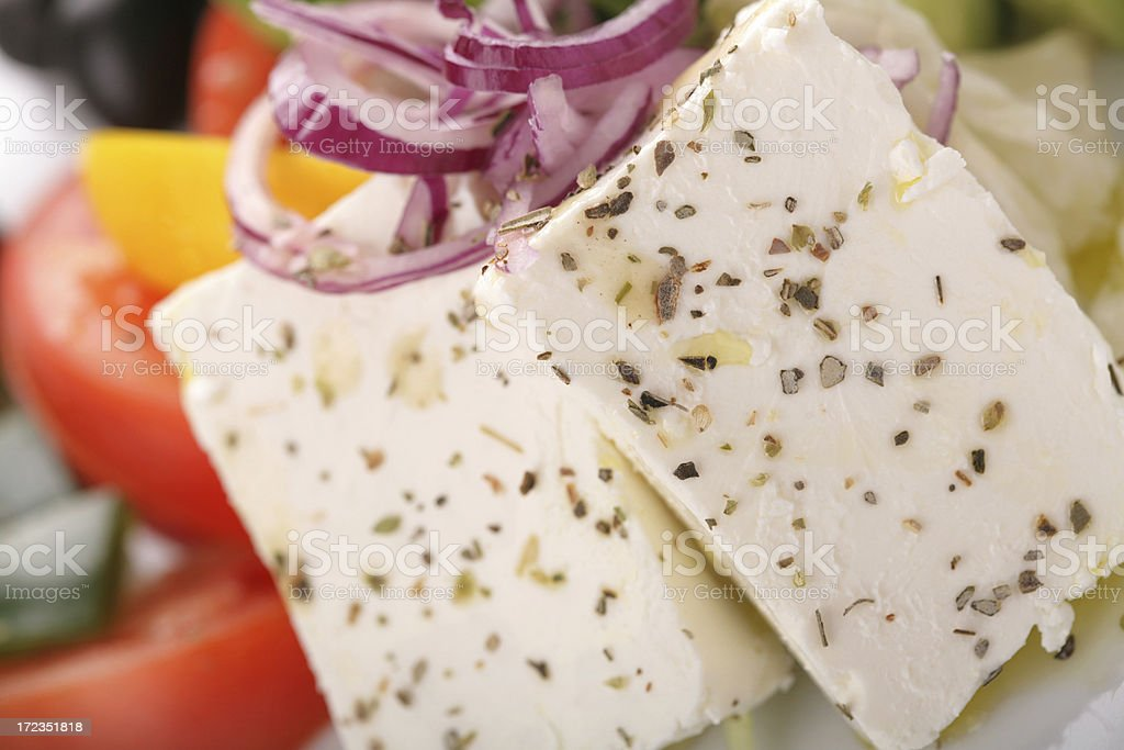 Blanco, ensalada de queso foto de stock libre de derechos