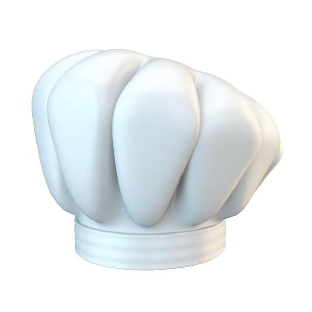 White chef hat 3D stock photo