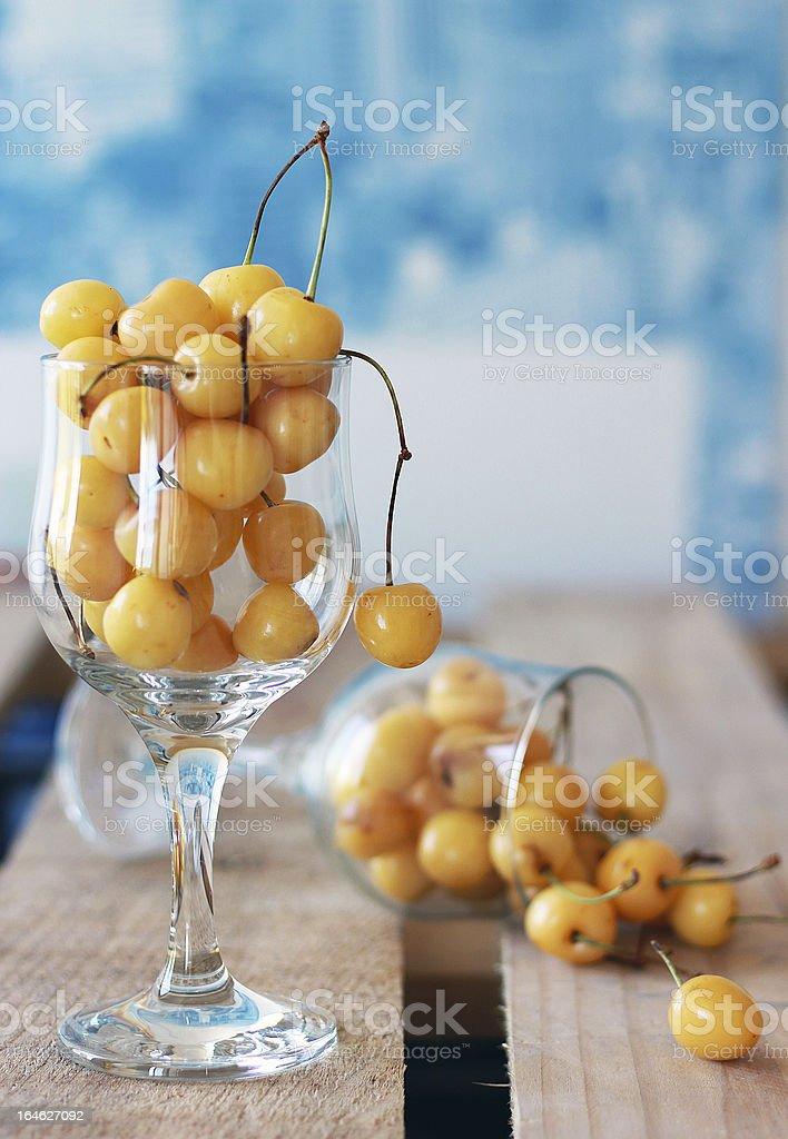 White cherries royalty-free stock photo